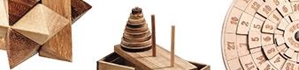 Denkspiel aus Holz