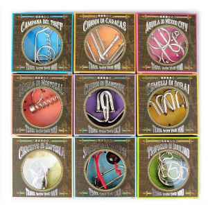 SET OF 9 MINI PUZZLES OF TRAVELERS SERIES - SPECIAL GROUP COLLECTION