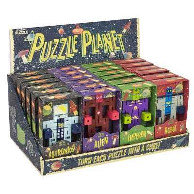 TISCHAUFSTELLER PLANET PUZZLE GALACTIC SERIE (X24) - PUZZLE PLANET DISPLAY UNIT