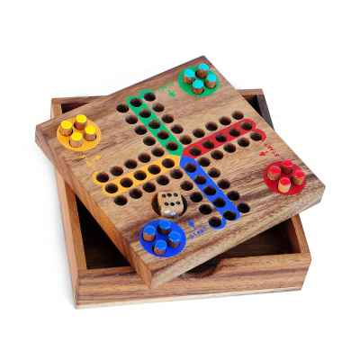 Ludo board game Pocked Wood