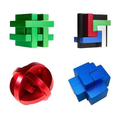 SET OF 4 EUREKA 3D METAL PUZZLE - SPECIAL GROUP COLLECTION *