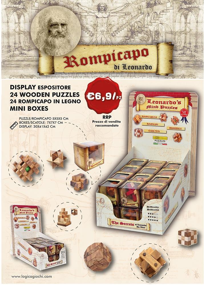 24 mini cubes Display Leonardo