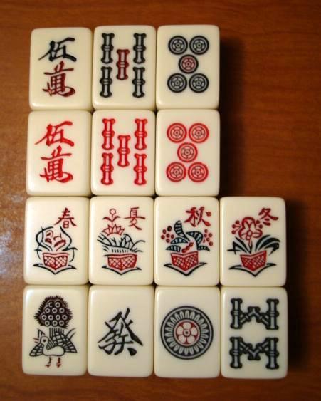 Spielsteine des Japanischen Mahjongs