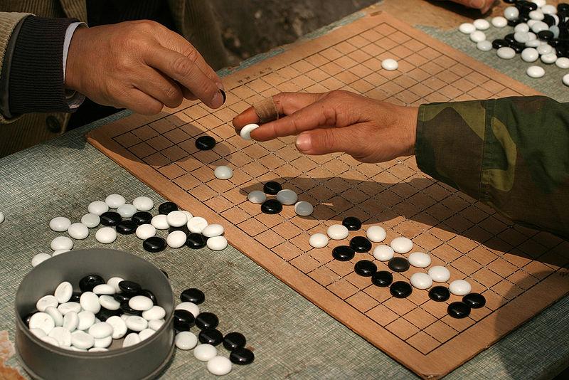 Zwei Go-Spieler in Shanghai