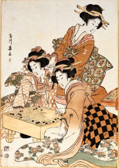 Geishas spielen Go