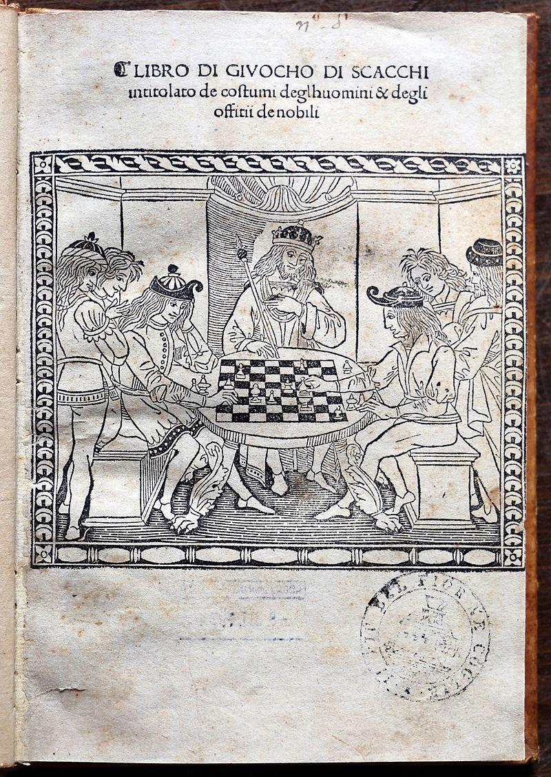 Iacobus de Cessolis, Schachbuch